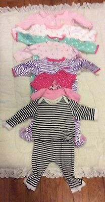 Lot Of 9 Pieces Girls Baby Clothing  carter's 6 months.