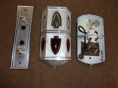 ANTIQUE ELEVATOR UP DOWN FLOOR light INDICATOR WITH 6 GLASS ARROWS