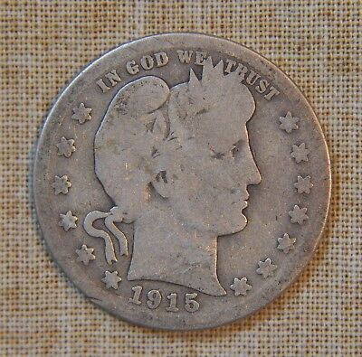 "1915-S Liberty Head ""barber"" Quarter - About Good"