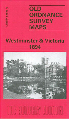 Old Ordnance Survey Map Westminster Victoria 1894 Buckingham Palace Whitehall