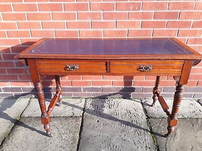 Superb Edwardian Mahogany Writing Desk / Hall Table