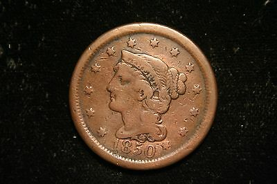 1851 Braided Hair Large Cent Penny, US Coin , FINE, Free Shipping!