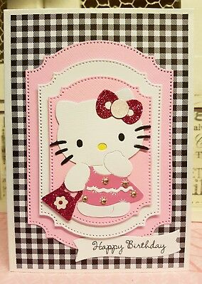 Happy Birthday Card Hello Kitty Handmade Card