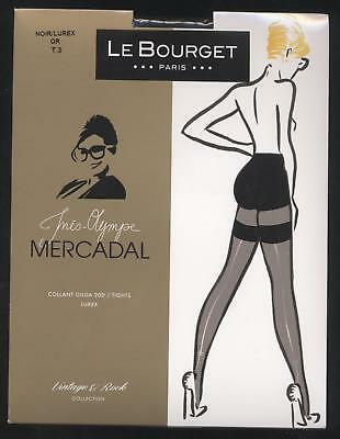 NEUF LE BOURGET COLLANT GILDA 20D NOIR / OR TAILLE 3 MERCADAL couture arrière