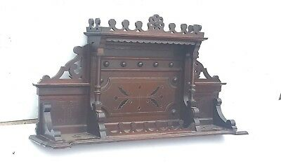 Vintage Header Pediment Mantle Mantel  Entryway Fireplace