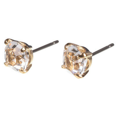 16k Gold Plated Stud with Swarovski Crystal and Titanium Post Earrings by Zoetik