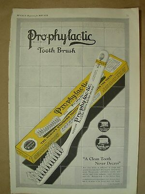 1923 Big ad Prophylactic Tooth Brush - Forhan's for gums 4/5 is pyorrhea's toll