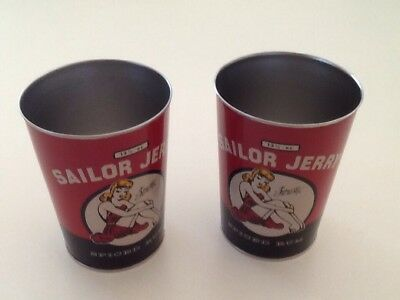 Sailor Jerry Rum Oil Can SET 2 13.5oz Limited Edition Traditional tattoo pinup