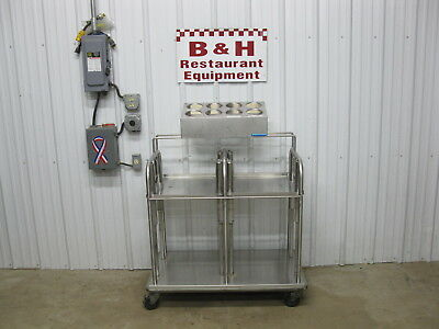"Stainless Steel 14"" x 18"" Serving Tray Platform Lowerator Silverware Dispenser"