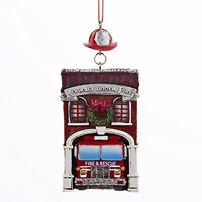 """KSA 4.25/"""" RESIN /""""FIREFIGHTERS COURAGE UNDER FIRE/"""" FIREFIGHTER XMAS ORNAMENT"""