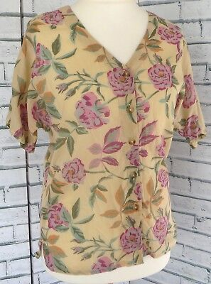 *BNWT* Anokhi Indian Cotton Floral Blouse top Sz 10 Vintage / b13