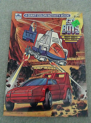 GoBots Go Bots A Giant Color and Activity Book Golden Mighty Robots Vehicles