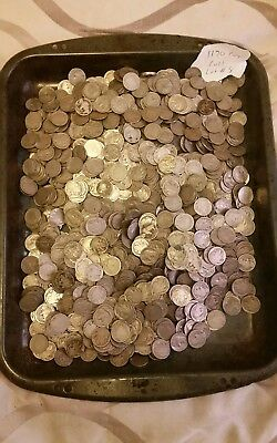 Us Cull buffalo nickels, 1170 Coins in Total Lot # 8