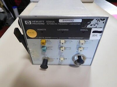 Hewlett Packard 5355A Automatic Frequency Converter Plug In Module
