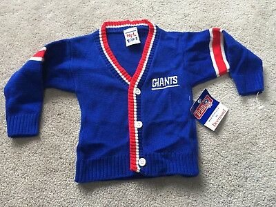 New York Giants: 3 button L/S Sweater: KIDS 18 Month: NEW with Tag