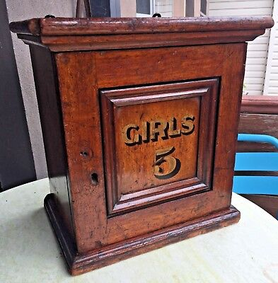 Charming and Rare Antique 1890 Children's Church Group Cupboard with Wall mounts