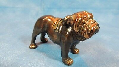 """Collectible Metal DOG - Souvenir Bull Dog - 2 """" high by 3"""" long - Tagged - Cute"""