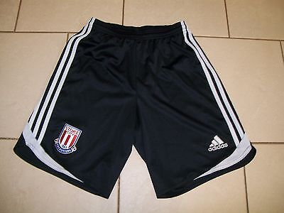 ** Stoke City Football Shorts - Adidas - Black - Size Adult XS - UK POST FREE **