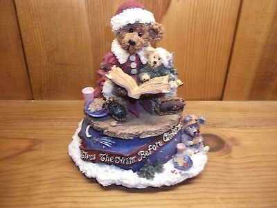 Boyds Bailey The Night Before Christmas Music Box Bearstone #270501 Silver Bells