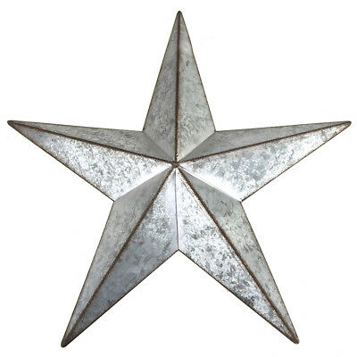 Galvanized 5-Point Star Christmas Decor, Silver, 15-Inch