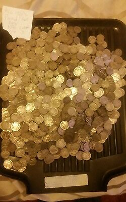 Us Buffalo Nickels Partial/ Full dates 1071 Coins All 1920's Lot # 3
