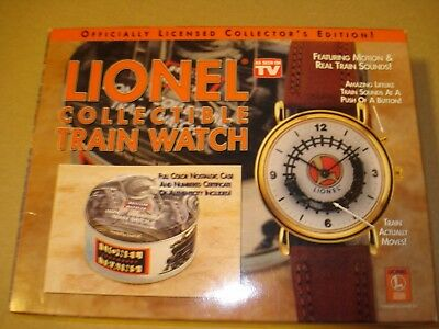 lionel wrist watch with sound and moving train