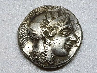 7. Greek Silver Coin, AR Tetradrachm Attica Athens - 16,73g; 25,2mm