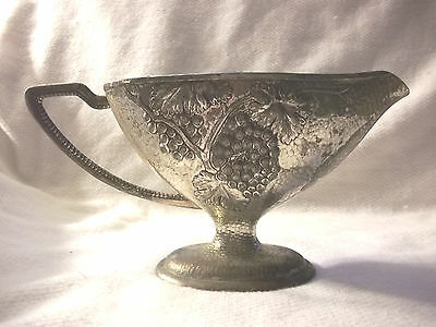 Vintage Metal Wine Pitcher Appears To Be Silver Plated Or Brass Footed Japan