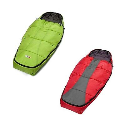 Phil & Ted Snuggle & Snooze Sleeping Bag & Fleecy Buggy Liner Red Pram Accessory
