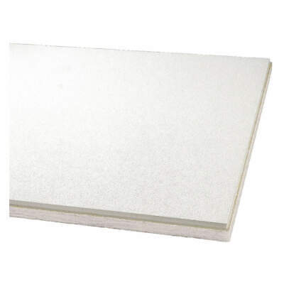 """ARMSTRONG Fiberglass Ceiling Tile,24"""" W,96"""" L,1"""" Thick,PK6, 3262A, White"""