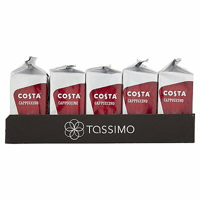 TASSIMO Costa Cappuccino Coffee Refill T-Discs Pods Capsule 5 Pack = 40 Drinks