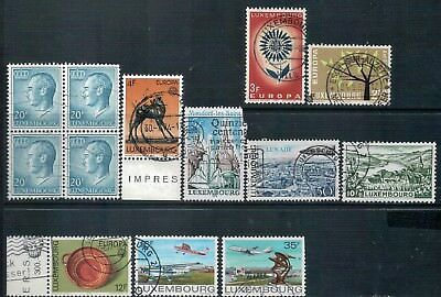 LUXEMBOURG - Mixed lot of 10 Stamps, Good - Fine Used, LH