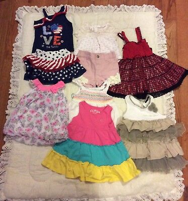 Lot Of 9 Pieces Girls Baby Clothing Carters,8 pieces12 months 1 piece 6-9 months