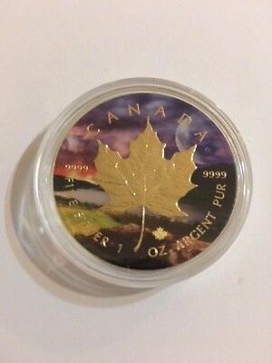 2017 1 oz Gold Gilded Canadian Maple Universe