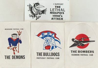 A.f.l Club Stickers  : Vintage - Collectable-Stickers  New  Cs