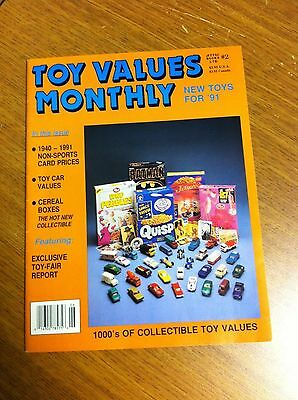 Attic Books 1991 Toy Values Monthly Magazine Price Guide Articles Cereal Boxes