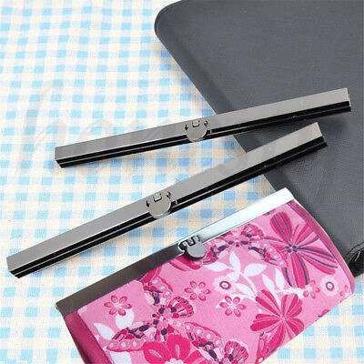 19cm Purse Wallet Frame Bar Edge Strip Clasp Metal Openable Edge Replacement