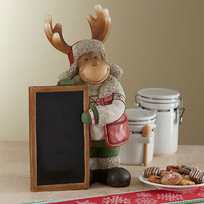 20'' Christmas Resin Moose with Chalk Board   (50.8cm)