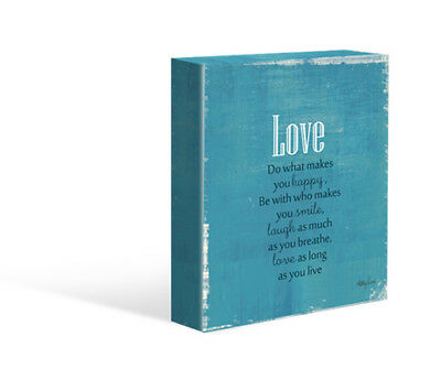 Kelly Lane LOVE Canvas Free Stand or Hang Brand New