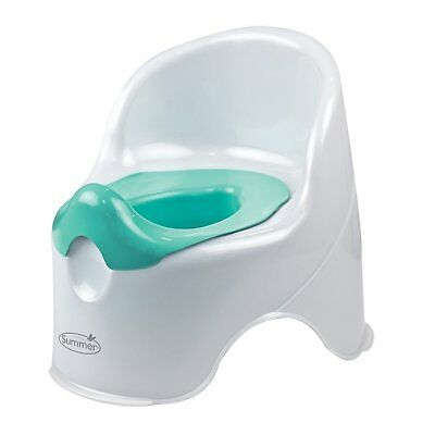 First Baby Potty Training Children Toddler Kids Chair Toilet Seat White and Teal