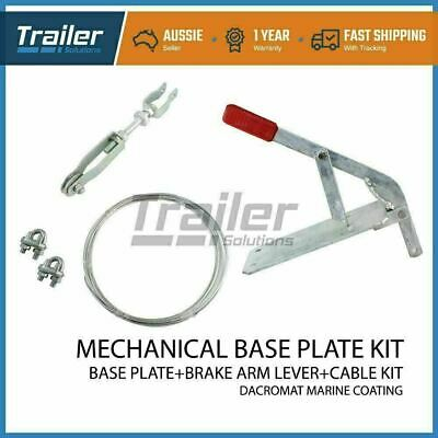 Mechanical Base Plate & Brake Arm lever + Cable Kit Hitch Trailer Coupling boat