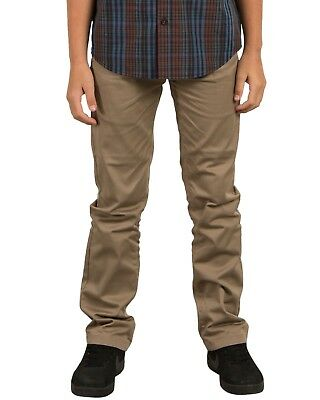 Volcom Frickin Modern Chino Trousers - Khaki - Boys Trousers
