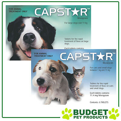 Capstar Flea Tablet Treatment - Cats, Small Dog & Large Dog