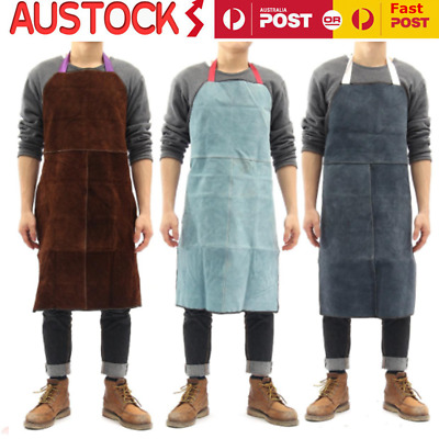 Welding Apron Heat Insulation Cow Leather cowhide Welder Protection New