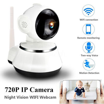 Wireless 720P Pan Tilt P2P Baby Monitor CCTV IP Camera Night Vision WiFi Webcam