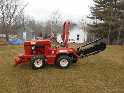 DITCH WITCH 3610DD DUETZ DIESEL 6 WAY BLADE TRENCHER LOW HOURS Ride-On Trenchers