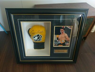 Daniel Geale signed boxing glove professionaly mounted. Collectable sports item