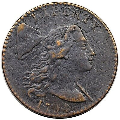 1794 Liberty Cap Large Cent, Head of '94, S-41, R.3, VF detail