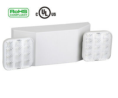 Emergency Light Fixtures LED Two Head Emergency White Light With Battery Back-Up