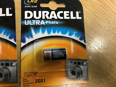 NEW Duracell CR2 3V Lithium Photo Camera Batteries DLCR2 / ELCR2